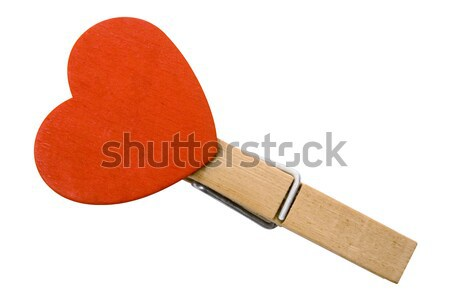 Heart on Clothespin with Clipping Path Stock photo © winterling