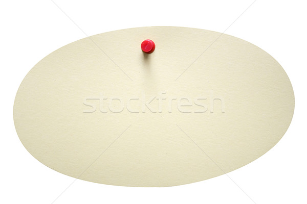 Stock photo: Single Oval Note with Clipping Path