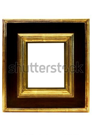 Gold Framed Picture Frame with Clipping Path Stock photo © winterling