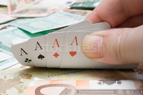 Quattro divertimento finanziare poker Foto d'archivio © winterling