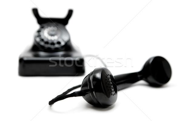 Klasszikus telefon fehér sekély üzlet retro Stock fotó © winterling