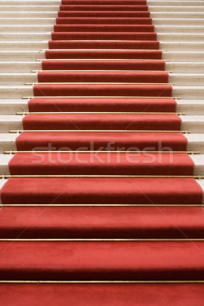 Klatka schodowa sława czerwonym dywanie marmuru spaceru teatr Zdjęcia stock © winterling