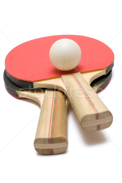 Two Ping Pong Paddles with Ball Stock photo © winterling