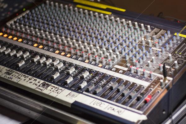 Centrala dźwięku technologii cyfrowe grać studio Zdjęcia stock © winterling