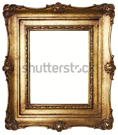 Stock photo: Picture Frame Gold (Clipping Path Included)