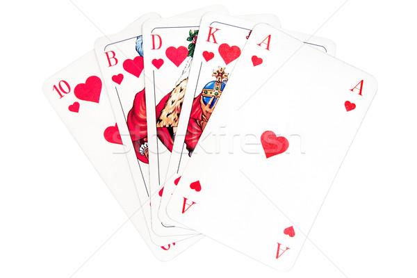 Hearts Royal Flush Stock photo © winterling