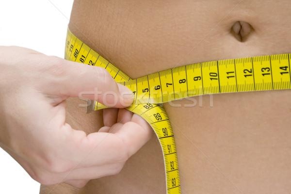 Cintura medición mujer blanco manos Foto stock © winterling