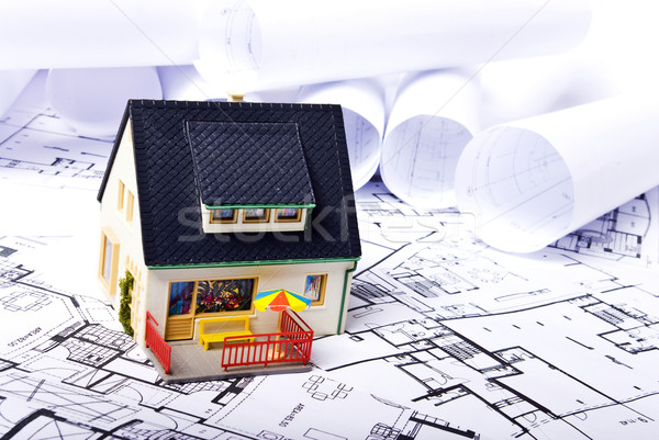 Stock photo: house plans