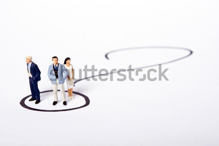 Miniatura ludzi zespołu działalności biuro kobiet Zdjęcia stock © wisiel