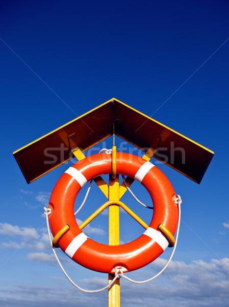 Ratownik wyposażenie niebo słońce streszczenie bezpieczeństwa Zdjęcia stock © wisiel