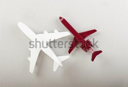 Vliegtuig vliegtuigen technologie achtergrond snelheid leven Stockfoto © wisiel
