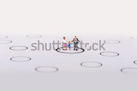 miniature people on team Stock photo © wisiel