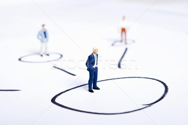 Miniatura ludzi plan działalności biuro kobiet Zdjęcia stock © wisiel