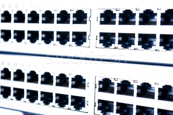 Ethernet internet technologie serveur réseau web Photo stock © wisiel