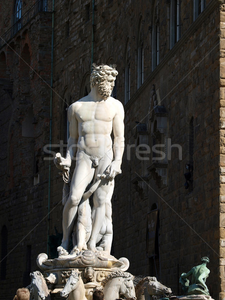 Fountain of Neptune in the Piazza della Signoria, Florence Stock photo © wjarek