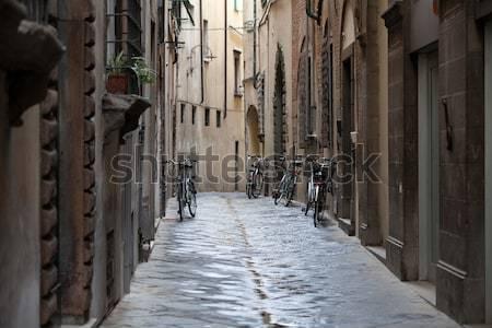 morning in the Tuscan town Stock photo © wjarek