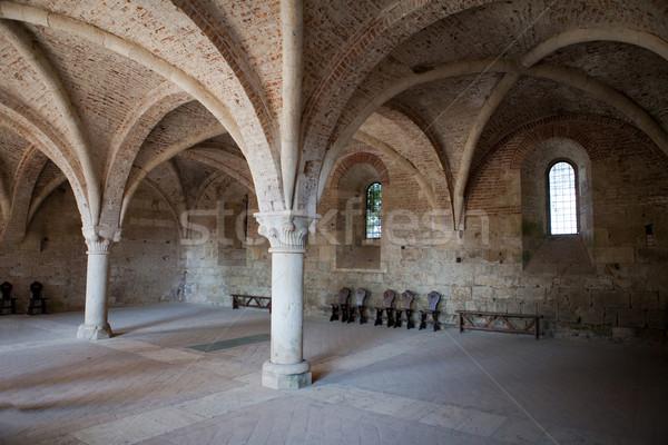 Manastır Toskana İtalya Bina pencere kilise Stok fotoğraf © wjarek