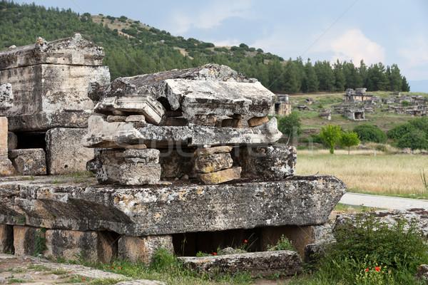 Ruines oude stad spa hot gebroken Stockfoto © wjarek