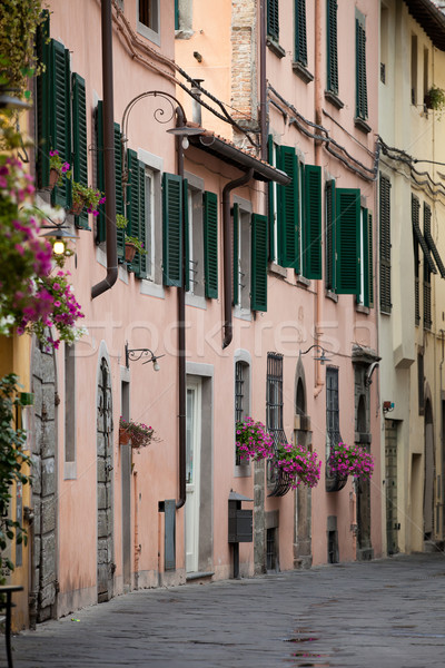 Stock photo:  morning in the Tuscan town