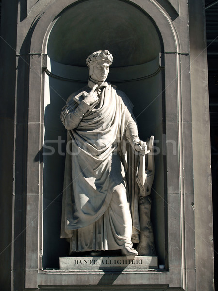 Dante Alighieri in the Niches of the Uffizi Colonnade, Florence. Stock photo © wjarek