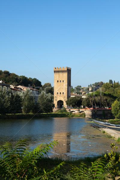 Floransa nehir şehir dünya seyahat kentsel Stok fotoğraf © wjarek