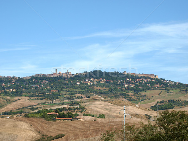 hills and valleys on the outskirts of Volterra.  Stock photo © wjarek
