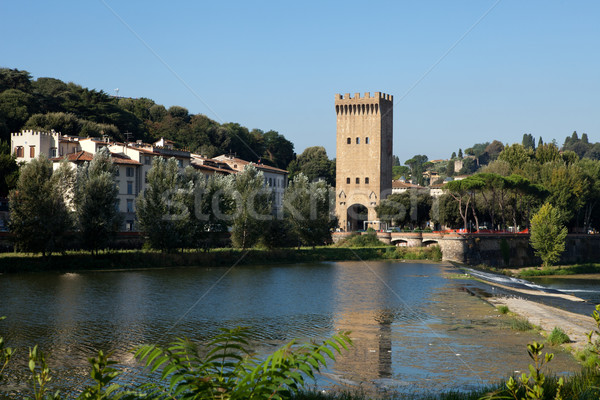 Florence - Torre San Niccolo Stock photo © wjarek