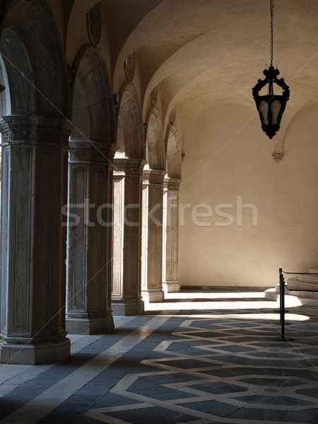 Venice - marble Mosaic in the corridor of the Palace of Doges Stock photo © wjarek