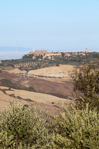 view of Pienza, just after sunrise. Tuscany, Italy Stock photo © wjarek