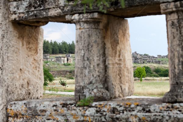 Stockfoto: Ruines · oude · stad · spa · hot · gebroken