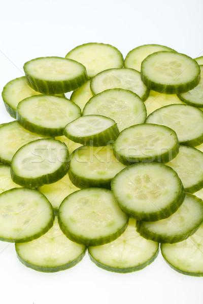 Freshly sliced cucumber  isolated on white background  Stock photo © wjarek