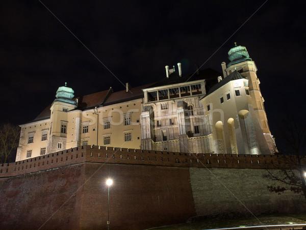 Királyi kastély Krakkó Lengyelország folyó vakáció Stock fotó © wjarek