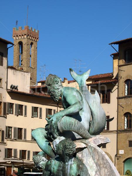 Fountain of Neptune in the Piazza della Signoria, Florence Stock photo © wjarek