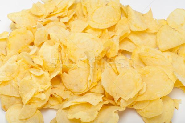 Aislado blanco grasa comer amarillo Foto stock © wjarek