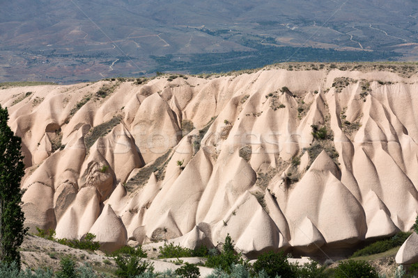 Volcanic rock landscape, Goreme, Cappadocia, Uchisar, Turkey  Stock photo © wjarek