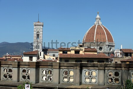 Florence - the view from the balcony of the Gallery Uffizi Stock photo © wjarek