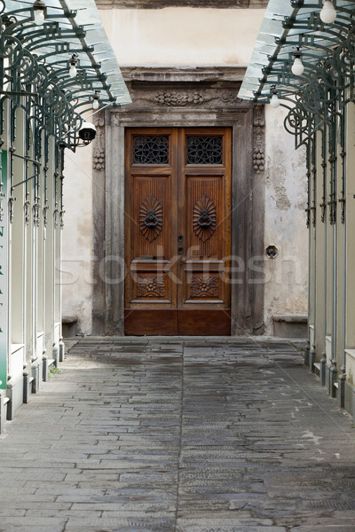 wooden residential doorway in Tuscany. Italy Stock photo © wjarek