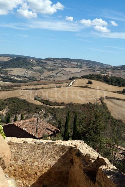 Stok fotoğraf: Tepeler · etrafında · Toskana · İtalya · yol · doğa
