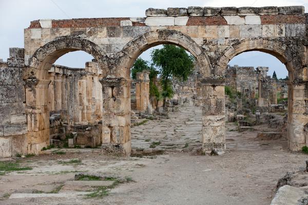 Stockfoto: Ruines · oude · stad · voorjaar · spa · gebroken