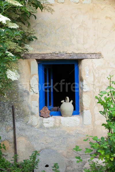 Kő ablak kék építészet házak klasszikus Stock fotó © wjarek
