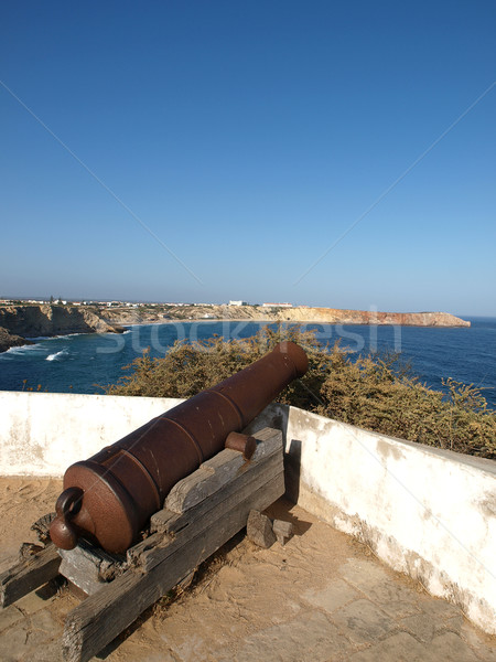 Sagres Point - Cannon inside the fortress Stock photo © wjarek