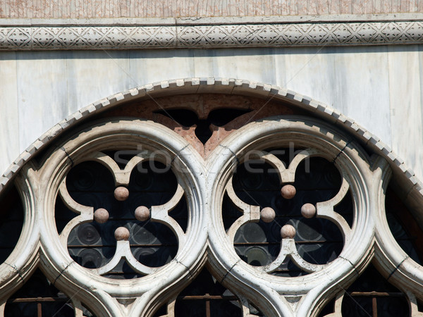 Venetian tracery - one of venice symbol Stock photo © wjarek