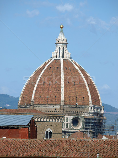 Florence - Dignified Duomo dome above roofs of the city Stock photo © wjarek