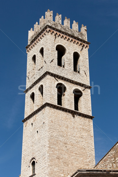 The tower of the Temple of Minerva in Assisi, Italy.  Stock photo © wjarek