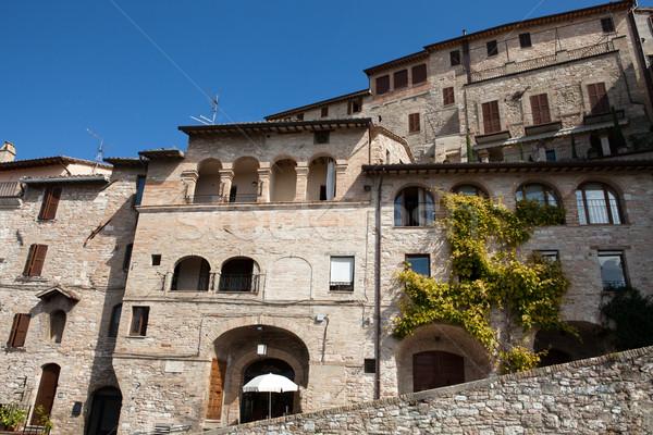 Assisi - medieval town Stock photo © wjarek
