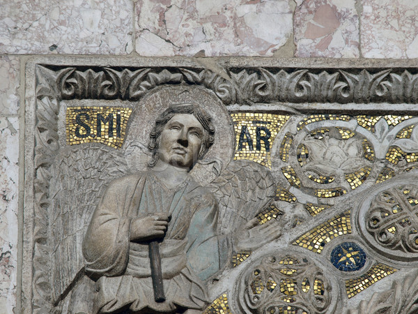 details on the basilica of st Mark's - Venice. Portal decorations Stock photo © wjarek