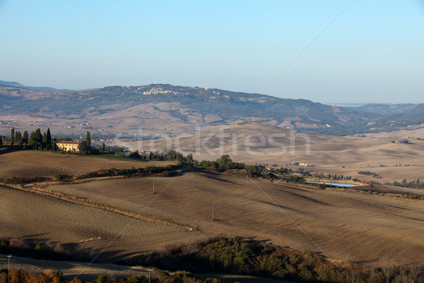 The hills around Pienza and Monticchiello  just after sunrise.  Stock photo © wjarek