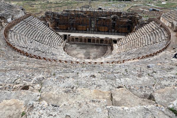 Teatr ruiny Turcja wiosną miasta spa Zdjęcia stock © wjarek