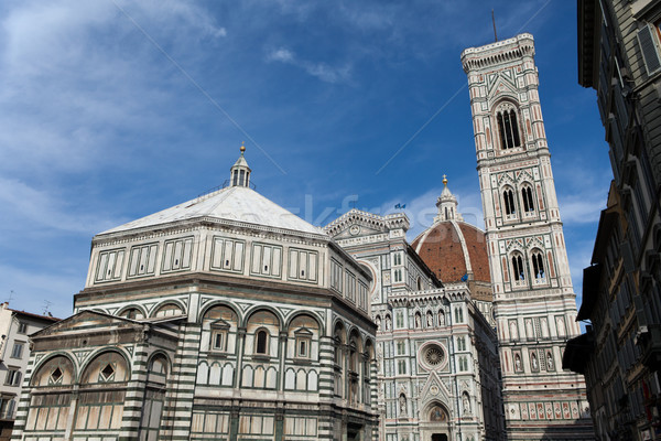 View of the Baptistery, Campanile and Duomo - Florence Stock photo © wjarek