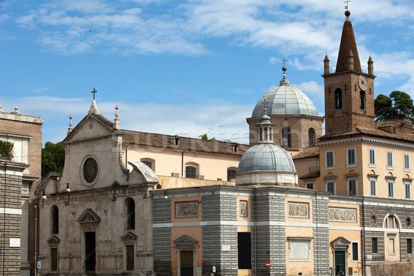 Rome kerk stad kunst architectuur Stockfoto © wjarek